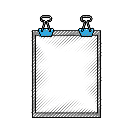 clipboard paper isolated icon vector illustration design Иллюстрация
