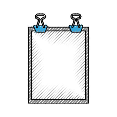 Klembord papier geïsoleerd pictogram vector illustratie ontwerp