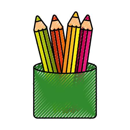 학교 색상 격리 된 아이콘 벡터 일러스트 디자인 일러스트