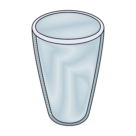 glass icon over white background vector illustration Ilustração