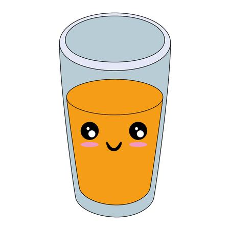 白い背景のベクトル図にオレンジ ジュース アイコン