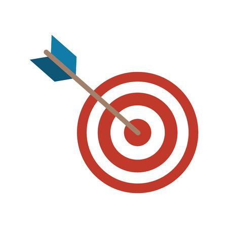 Dart arrow icon over white background