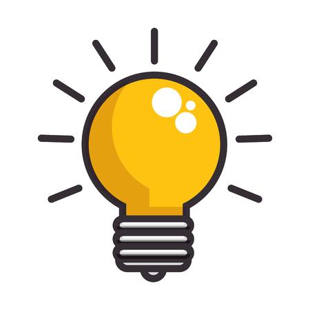 白い背景のベクトル図に電球アイコン