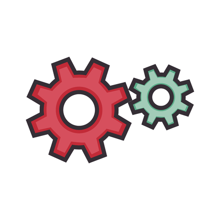 Gear wheels icon over white background vector illustration Фото со стока - 83821289