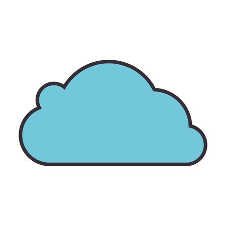 흰색 배경 벡터 일러스트 레이 션 위에 구름 아이콘 스톡 콘텐츠 - 83989080