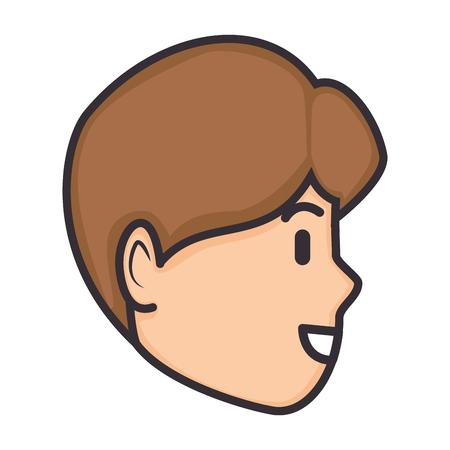 Cartoon man's face icon vector illustration Stock Vector - 83829152