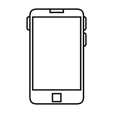 wireless communication: Smartphone icon over white background vector illustration
