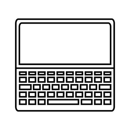 Laptop computer icon over white background vector illustration Reklamní fotografie - 83821359
