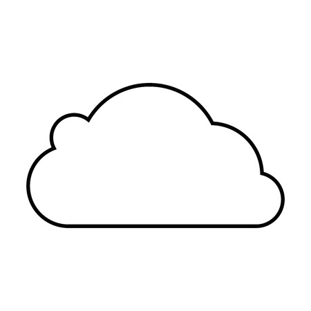 Cloud icon over white background vector illustration Stock Vector - 83821361