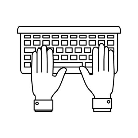 白い背景のベクトル図にラップトップ コンピューターのアイコン