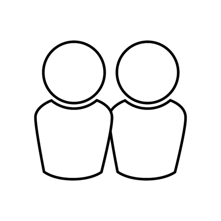 Avatar mensenpictogram over witte vectorillustratie als achtergrond Stock Illustratie