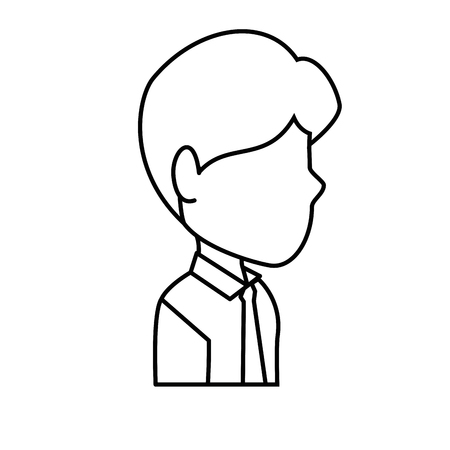 Man profile cartoon icon vector illustration graphic design