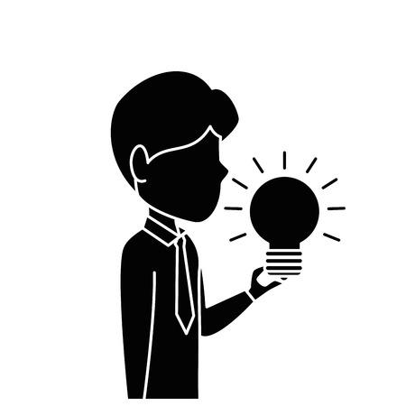 Executive person with idea icon vector illustration graphic design