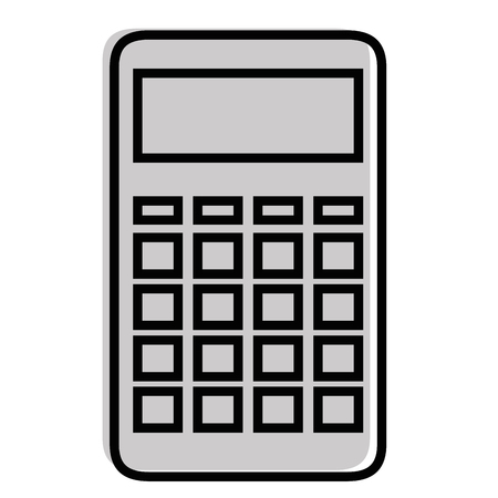 Calculator device icon  illustration Çizim