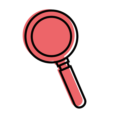 Magnifying glass isolated icon vector illustration graphic design