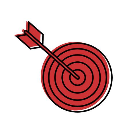 ターゲット ダーツ シンボル アイコン ベクトル イラスト グラフィック デザイン