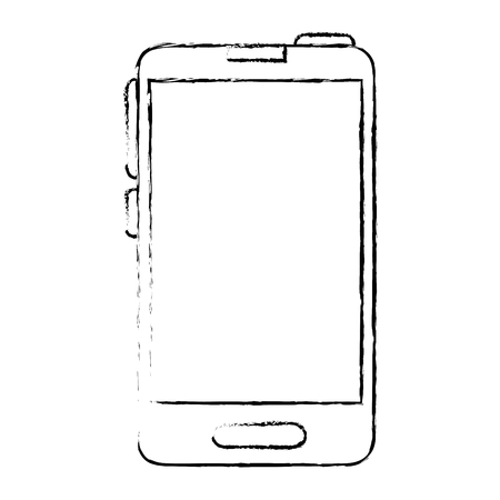 responsive: Smartphone icon over white background vector illustration