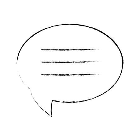Toespraak bubble pictogram over witte achtergrond vectorillustratie