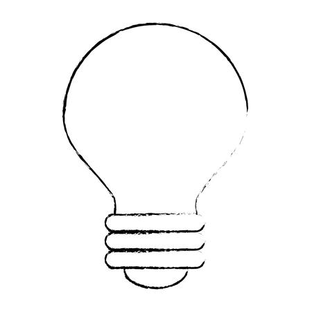 light bulb icon over white background vector illustration Illusztráció