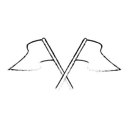白い背景のベクトル図にフラグ アイコン