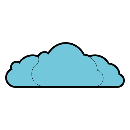 Clouds icon over white background vector illustration