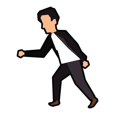 Icona dell'uomo d'affari su sfondo bianco illustrazione vettoriale Archivio Fotografico - 83822088