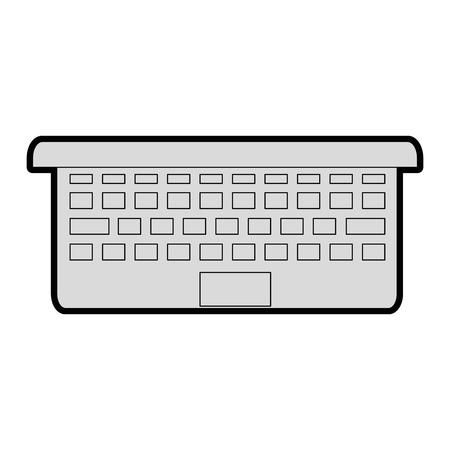 laptop computer icon over white background vector illustration Illustration
