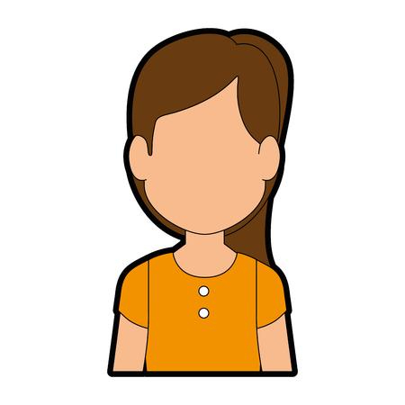 여자 프로 파일 아이콘 벡터 일러스트 그래픽 디자인