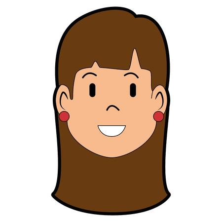 Perfil da mulher desenho animado ilustração vetorial design gráfico Foto de archivo - 83822127