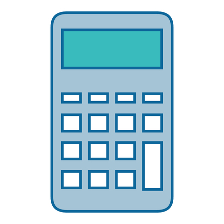 Calculator math device icon vector illustration graphic design Illustration