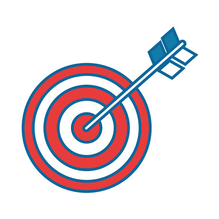 Target dartboard symbol icon vector illustration graphic design Reklamní fotografie - 83822439