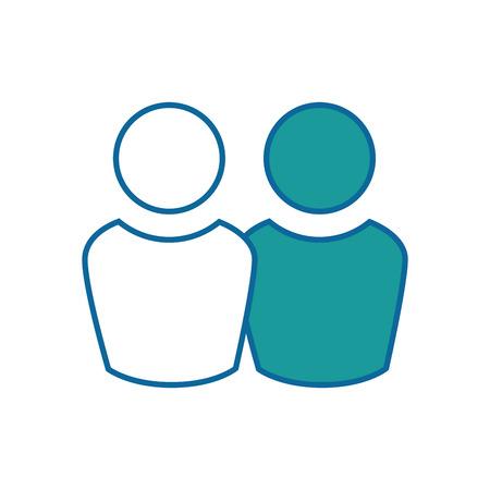 Couple teamwork symbol icon vector illustration graphic design Ilustração