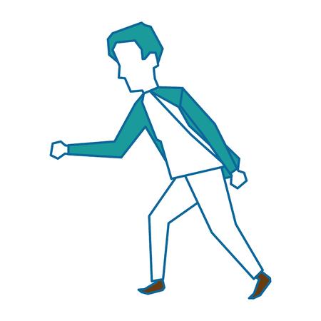 남자 프로 파일 만화 아이콘 벡터 일러스트 그래픽 디자인