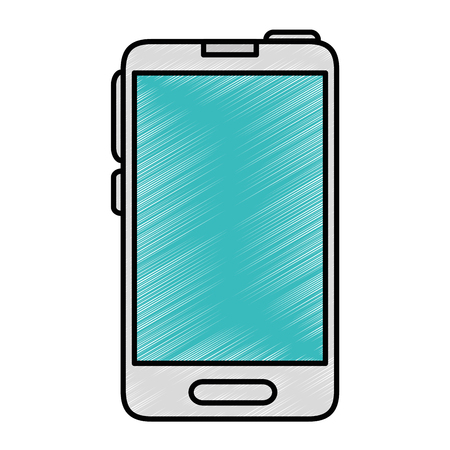 touch screen phone: Smartphome mobile technology icon vector illustration graphic design Illustration