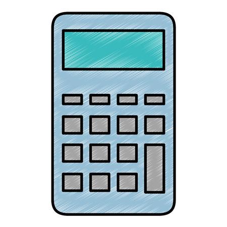 Calculatrice mathématiques dispositif icône vecteur illustration de conception graphique Banque d'images - 83867776