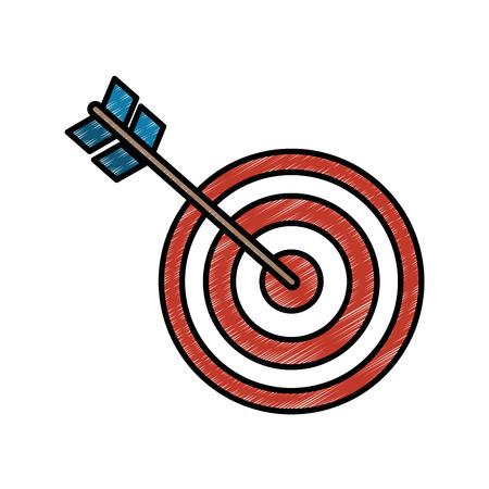 Target dartboard symbol icon vector illustration graphic design Ilustrace
