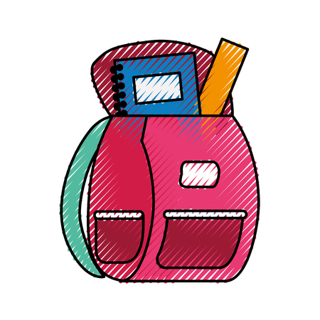 school bag isolated icon vector illustration design Stock Vector - 83827516