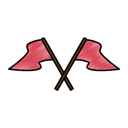 Flag isolated symbol icon vector illustration graphic design Ilustração