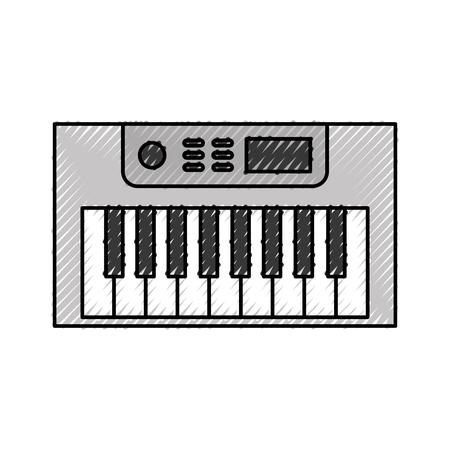 Synth console geïsoleerd pictogram vector illustratie ontwerp