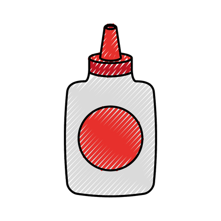 接着剤のボトル分離アイコン ベクトル イラスト デザイン