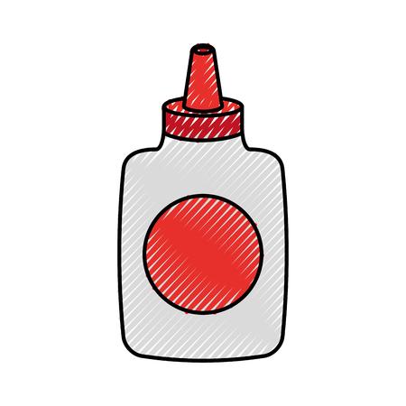 Glue bottle isolated icon vector illustration design Ilustracja