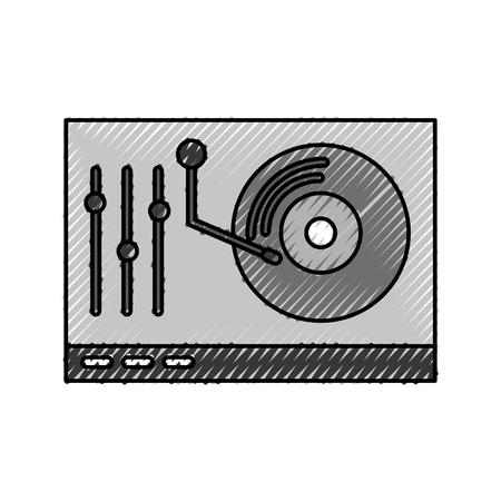 Vinyl player console icon vector illustration design