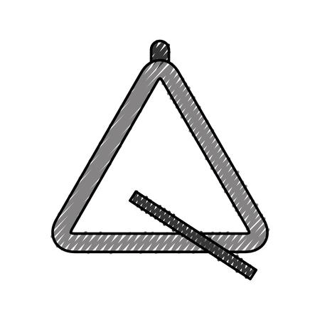 triangle instrument musical icon vector illustration design Illustration