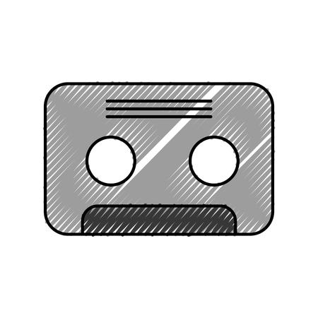retro cassette isolated icon vector illustration design Illustration