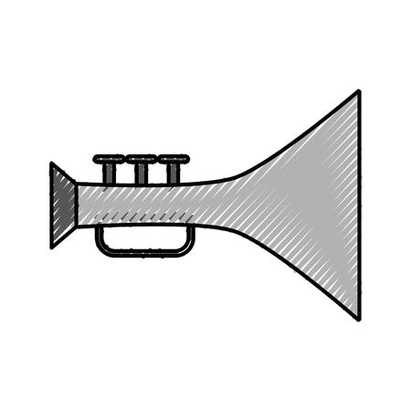 Trompette musique instrument icône illustration vectorielle conception Banque d'images - 83822427