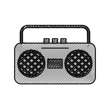 Radiomuziek vector de illustratieontwerp van het spelerpictogram Stock Illustratie