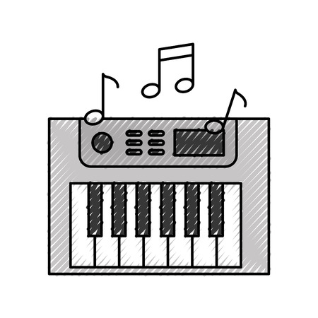 Synth console with notes vector illustration design Reklamní fotografie - 83823577