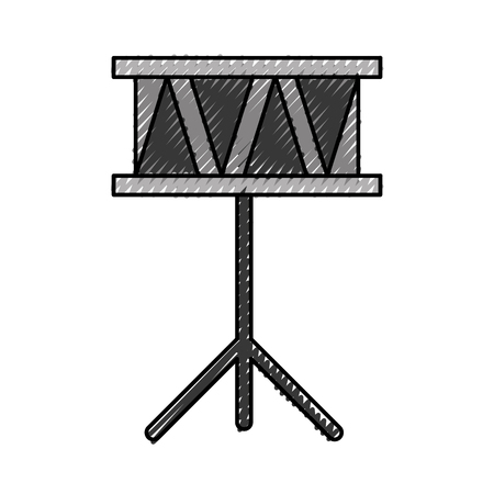 drums musical instrument icon vector illustration design Ilustração