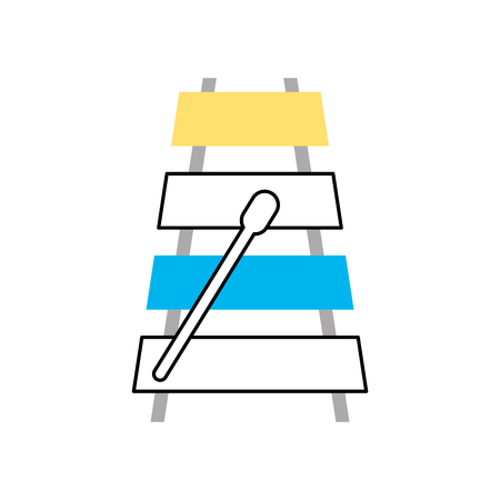knocking: xylophone musical instrument icon vector illustration design Illustration