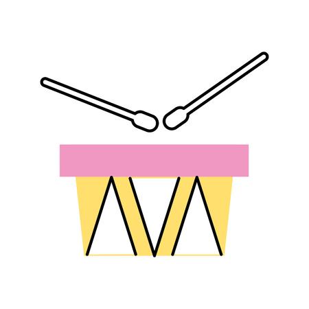 rhythm rhythmic: drums musical instrument icon vector illustration design Illustration
